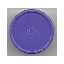20mm Plain Flip Caps, Purple, Pk 100