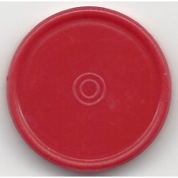 20mm Plain Flip Caps, Red, Pk 100