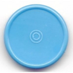20mm Plain Flip Caps, Sky Blue, Pk 100
