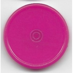 20mm Plain Flip Caps, Fuchsia Pink, Pk 100