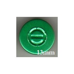 13mm Center Tear Vial Seals, Green, Pack of 100