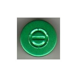 20mm Center Tear Vial Seals, Green, Pack of 100