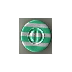 20mm Center Tear Vial Seals, Green Stripe, Pack of 100