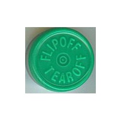 20mm Flip Off-Tear Off Vial Seals, Green, Bag 1000