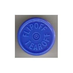 20mm Flip Off-Tear Off Vial Seals, Royal Blue, Pack of 100