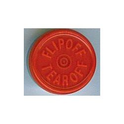 20mm Flip Off-Tear Off Vial Seals, Red, Pack of 100