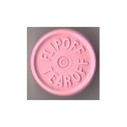 20mm Flip Off-Tear Off Vial Seals, Pink, Pack of 100