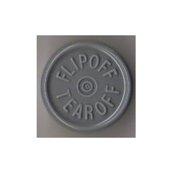 20mm Flip Off-Tear Off Vial Seals, Dark Gray, Pack of 100