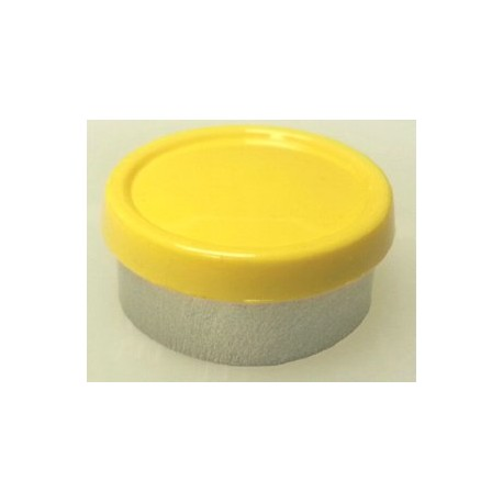 20mm Superior Flip Cap Vial Seal, Yellow, Bag 1000