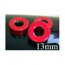 13mm Open Hole Vial Seal, Red, Bag 1000