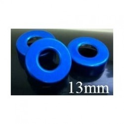 13mm Open Hole Vial Seal, Blue, Bag 1000