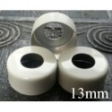 13mm Open Hole Vial Seal, White, Bag 1000