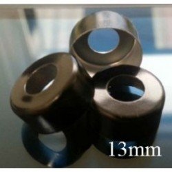 13mm Open Hole Vial Seal, Black, Bag 1000