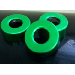 Green 20mm Open Hole Vial Seals, Bag of 1000