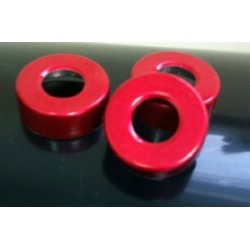 Red 20mm Open Hole Vial Seals, Bag of 1000