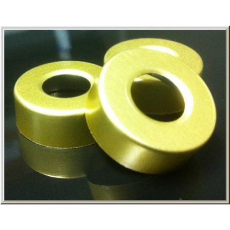 Gold 20mm Open Hole Vial Seals, Bag of 1000
