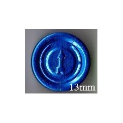 13mm Complete Tear Off Vial Seals, Sapphire Blue, Bag 1000