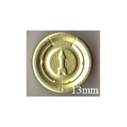 13mm Complete Tear Off Vial Seals, Gold, Pk 100