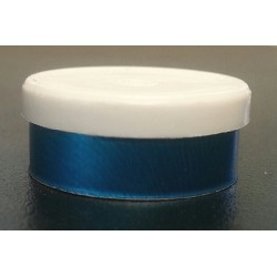 20mm Plain Flip Caps, White Cap Blue Aluminum, Bag 1000