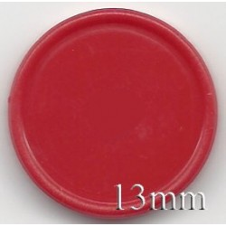 13mm Plain Flip Caps, Red, Bag of 1,000